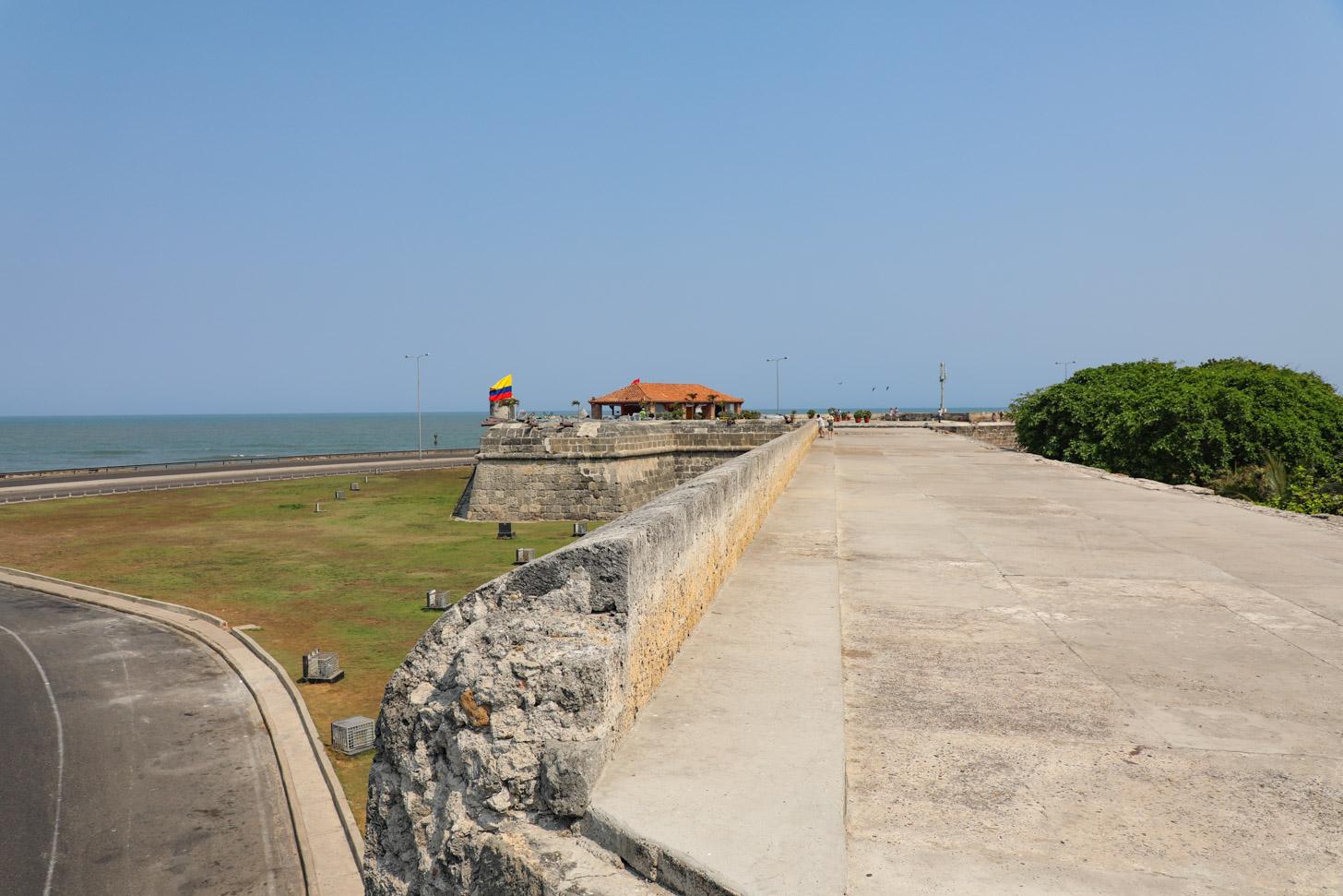 De oude stadsmuren van Cartagena